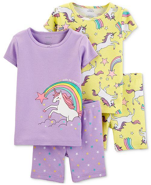 d04c7a6d084f Carter s Toddler Girls 4-Pc. Cotton Unicorn Pajamas Set   Reviews ...