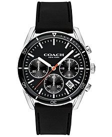 Men's Chronograph Thompson Sport Black Rubber Strap Watch 41mm