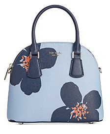 kate spade new york Sylvia Grand Flora Small Dome Leather Satchel