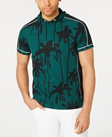 I.N.C. Men's Palm-Tree Hooded T-Shirt, Created for Macy's