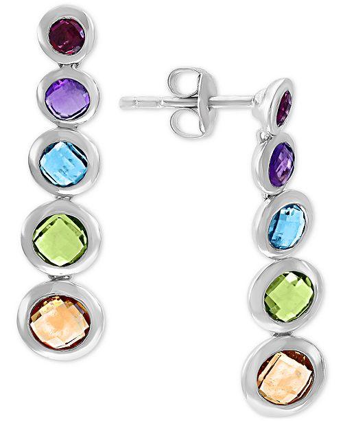EFFY Collection EFFY® Multi-Gemstone Graduated Drop Earrings (3-3/8 ct. t.w.) in Sterling Silver