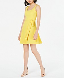Tie-Waist Shift Dress