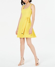 kensie Tie-Waist Shift Dress