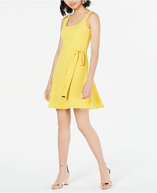 kensie Tie-Waist Shift Dress