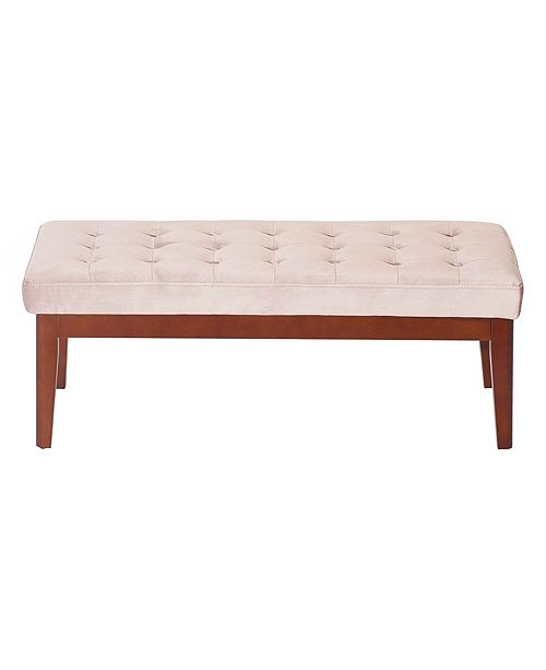 Elle Decor Elle Décor Claire Tufted Upholstered Bench, Quick Ship
