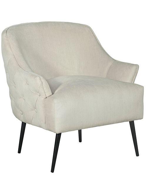 Elle Decor Elle Décor Quincy Tufted Accent Chair, Quick Ship