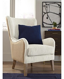 Tommy Hilfiger Warner Wingback Chair, Quick Ship