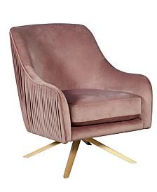 Elle Décor Jolie Swivel Lounge Chair, Quick Ship