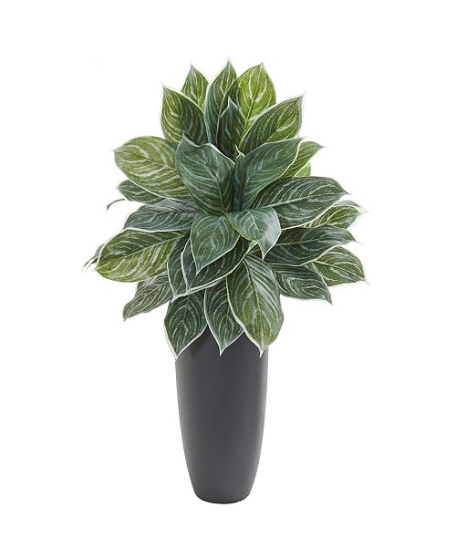 """Nearly Natural 37"""" Aglaonema Artificial Plant in Planter (Real Touch)"""