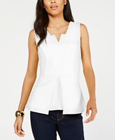 Thalia Sodi Sleeveless Peplum Top, Created for Macy's