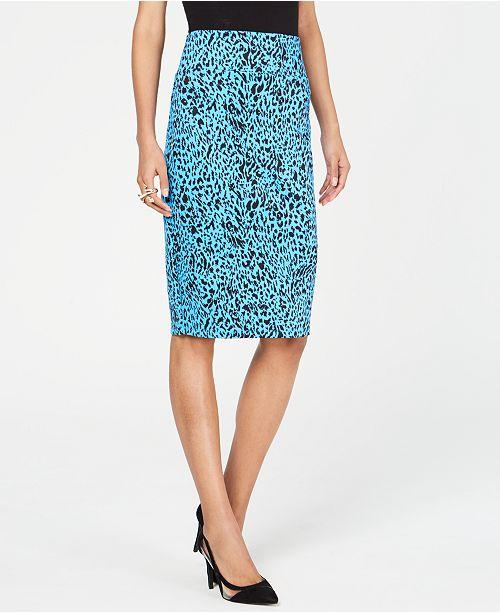 Thalia Sodi Printed Pencil Scuba Skirt, Created for Macy's