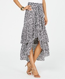 Thalia Sodi Printed Wrapped Ruffle Skirt, Created for Macy's