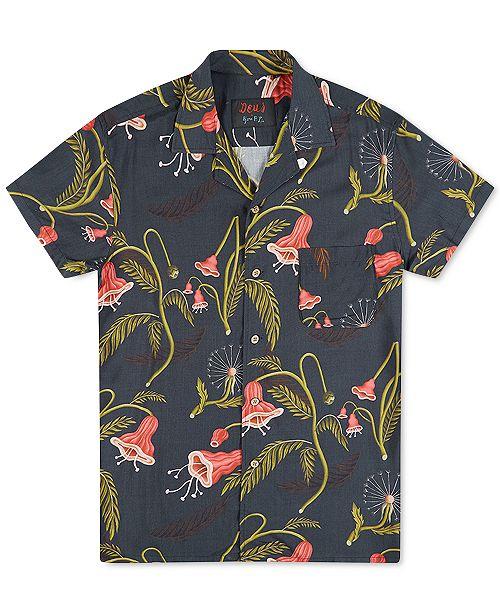 Deus Ex Machina Men's Dean Fauna Floral-Print Woven Shirt