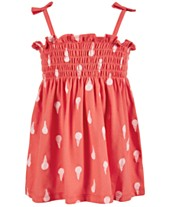 c99b54c367aa First Impressions Baby Girls Ice Cream Cone-Print Smocked Sundress, Created  for Macy's
