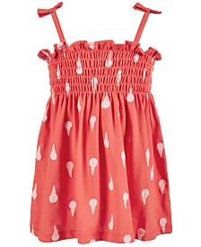 First Impressions Baby Girls Ice Cream Cone-Print Smocked Sundress, Created for Macy's