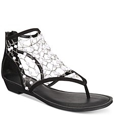 Madilyn Chain-Embellished Flat Sandals