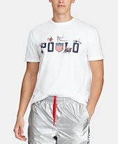 b9f1db43 Polo Ralph Lauren Men's Custom Slim Fit Graphic Chariots T-Shirt