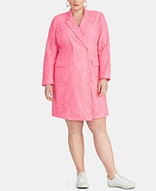 Darla Plus Size Lace Blazer Dress