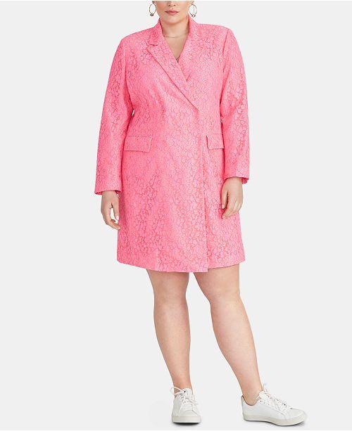 RACHEL Rachel Roy Darla Plus Size Lace Blazer Dress ...