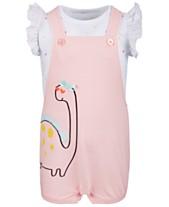 27c1218fff1a First Impression's Baby Boy's Dinosaur Shortall Set, Created for Macy's