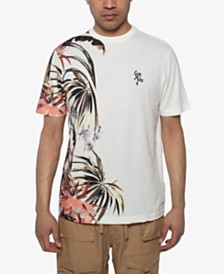 Sean John Men's Exposed Floral T-Shirt