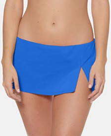 Bleu by Rod Beattie Slit Hipster Swim Skirt