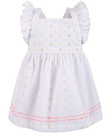 First Impressions Baby Girls Dot-Print Pinafore Dress, Created for Macy's
