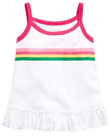 First Impressions Baby Girls Striped Swing Top, Created for Macy's