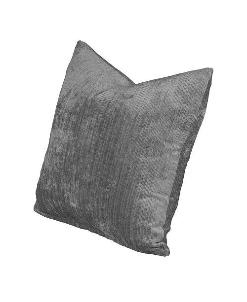 """Siscovers Vintage Pewter 26"""" Designer Euro Throw Pillow"""