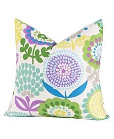 "Pointillist Pansy 20"" Designer Throw Pillow"