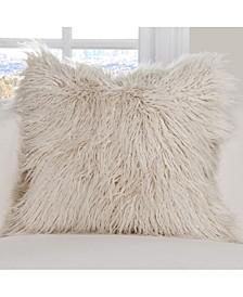 Llama Faux Fur  Designer Throw Pillow