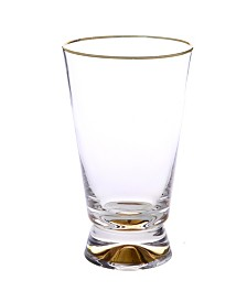 Classic Touch Set of 6 Tumblers with Base and Rim
