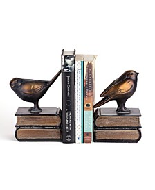 Birds on Books Bookend Set