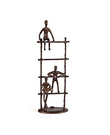 Three Children on a Ladder Bronze Sculpture