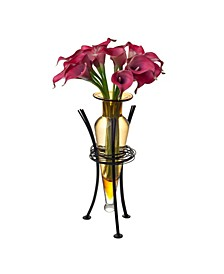 Amphora Vase with Wire Stand