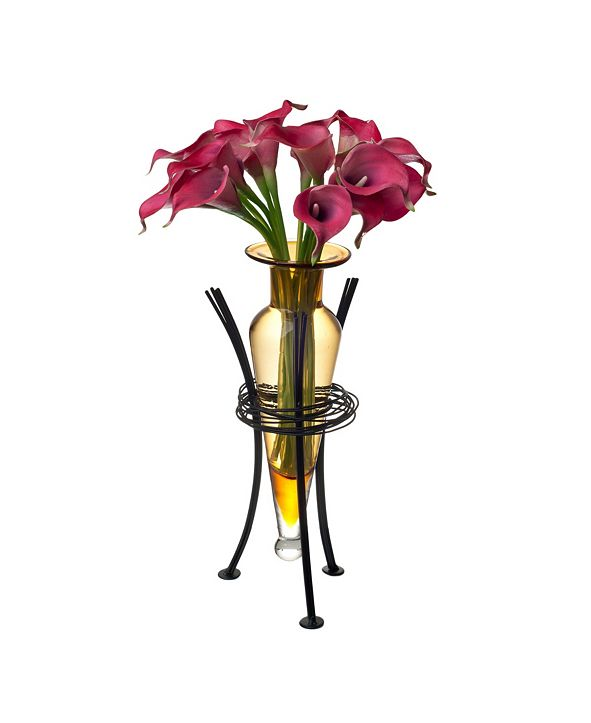 Danya B Amphora Vase with Wire Stand