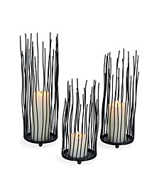 Willow Iron Candleholder 3-piece Set