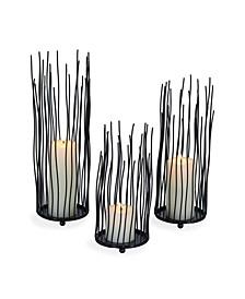 Willow Iron Candleholder 3-piece Set