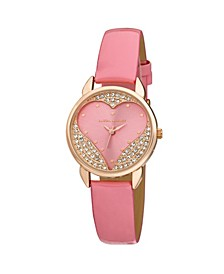 Designer Pink Hearts Watch