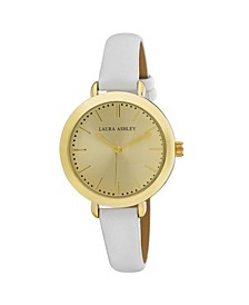 Ladies' Signature Case Analog Display White Watch