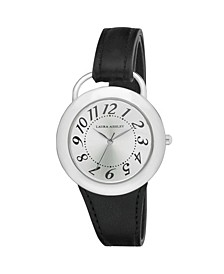Ladies' Black Band Sunray Dial Sterrup Case Push Pin Closure Watch