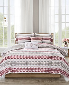 510 Design Neda Full/Queen 5 Piece Reversible Print Comforter Set