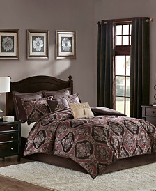 Madison Park Ingrid California King 8 Piece Chenille Jacquard Comforter Set