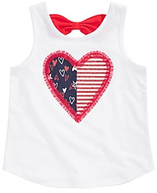 Epic Threads Little Girls Heart Graphic Bow Tank Top, Created for Macy's