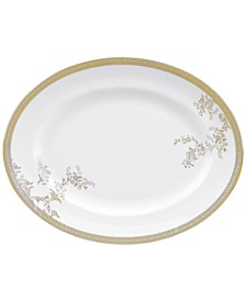 Dinnerware, Lace Gold Oval Platter