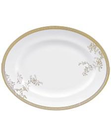 Vera Wang Wedgwood Dinnerware, Lace Gold Oval Platter