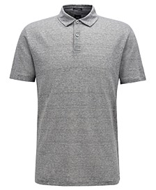 BOSS Men's T-Perkins 14 Linen Polo Shirt