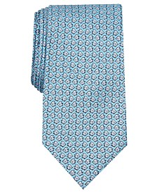 Club Room Men's Angel Fish Print Silk Tie, Created for Macy's