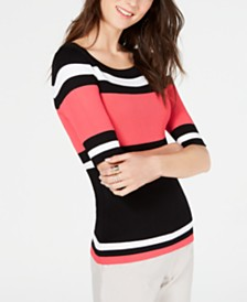 I.N.C. Striped Sweater, Created for Macy's