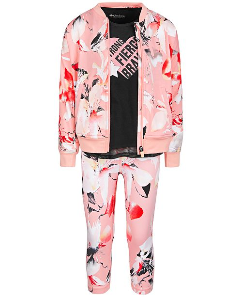 Ideology Toddler Girls Bomber Jacket, Tank Top & Capri Leggings, Created for Macy's